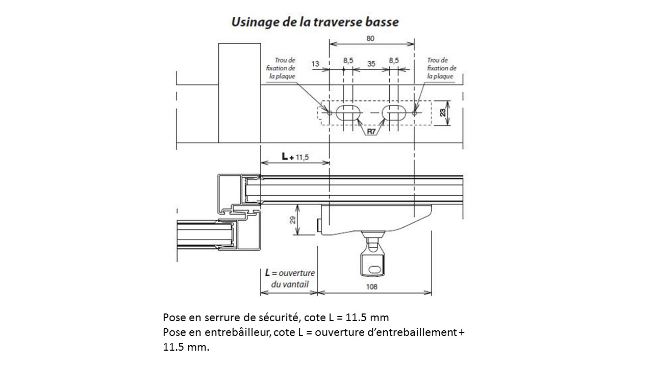 Verrou entrebailleur pour baie coulissantes et fenetres for Bloque fenetre coulissante