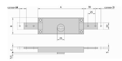 Serrure double panneton viro 2201 pour rideaux m talliques - Mecanisme pour porte de garage basculante ...