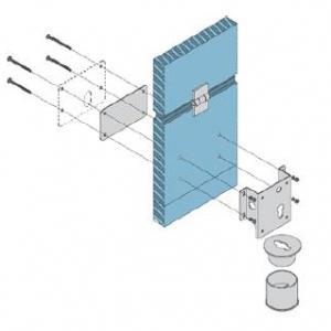 Accessoire pour pose sur porte sectionnelle de la serrure electrique viro 7905 v06 avec harpon rotatif