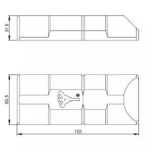 Armadlock mul t lock dimensions