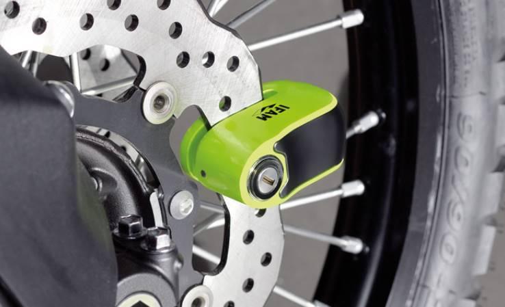 Bloc disque storm mini alarme sonore 110 db ifam pour moto et scooter 2 roues quad