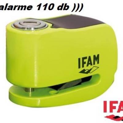Bloque Disque STORM MINI IFAM avec alarme 110 décibels. Jaune