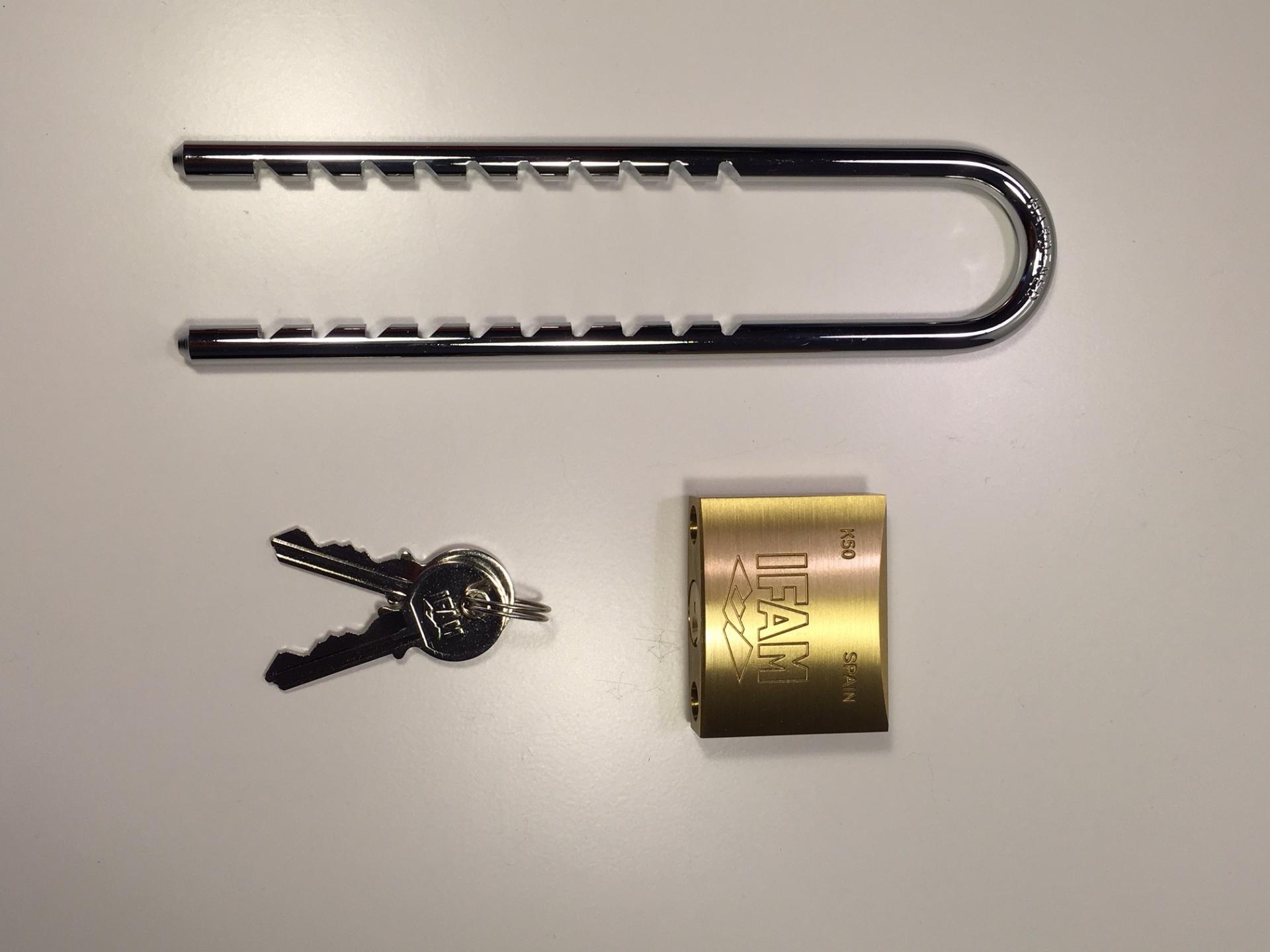 Cadenas 50 mm avec anse reglable ifam