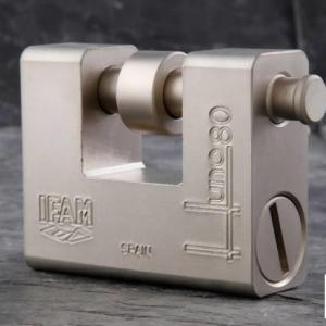 Cadenas blinde haute securite ifam huno80 avec anse de 14 mm