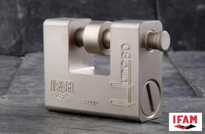 Cadenas blindé Haute Securité IFAM HUNO 80 Degré 5 suivant Norme EN12320