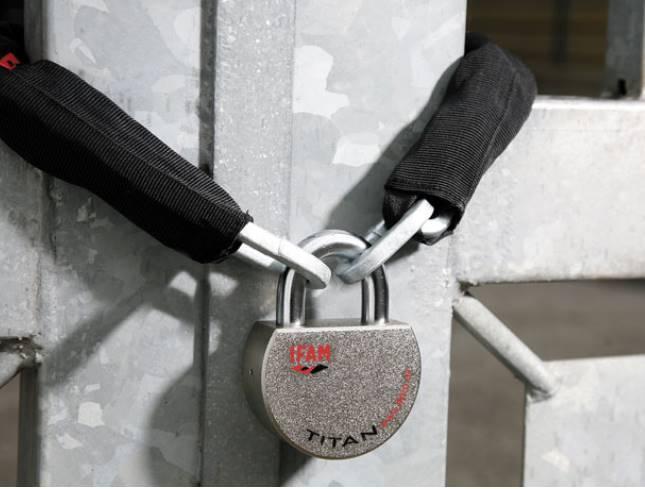 Cadenas ifam titan a tres haute securite grade 5 anti coupe
