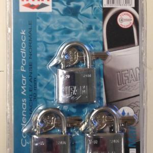 Cadenas marine inox m 30 ifam lot de 3 cadenas