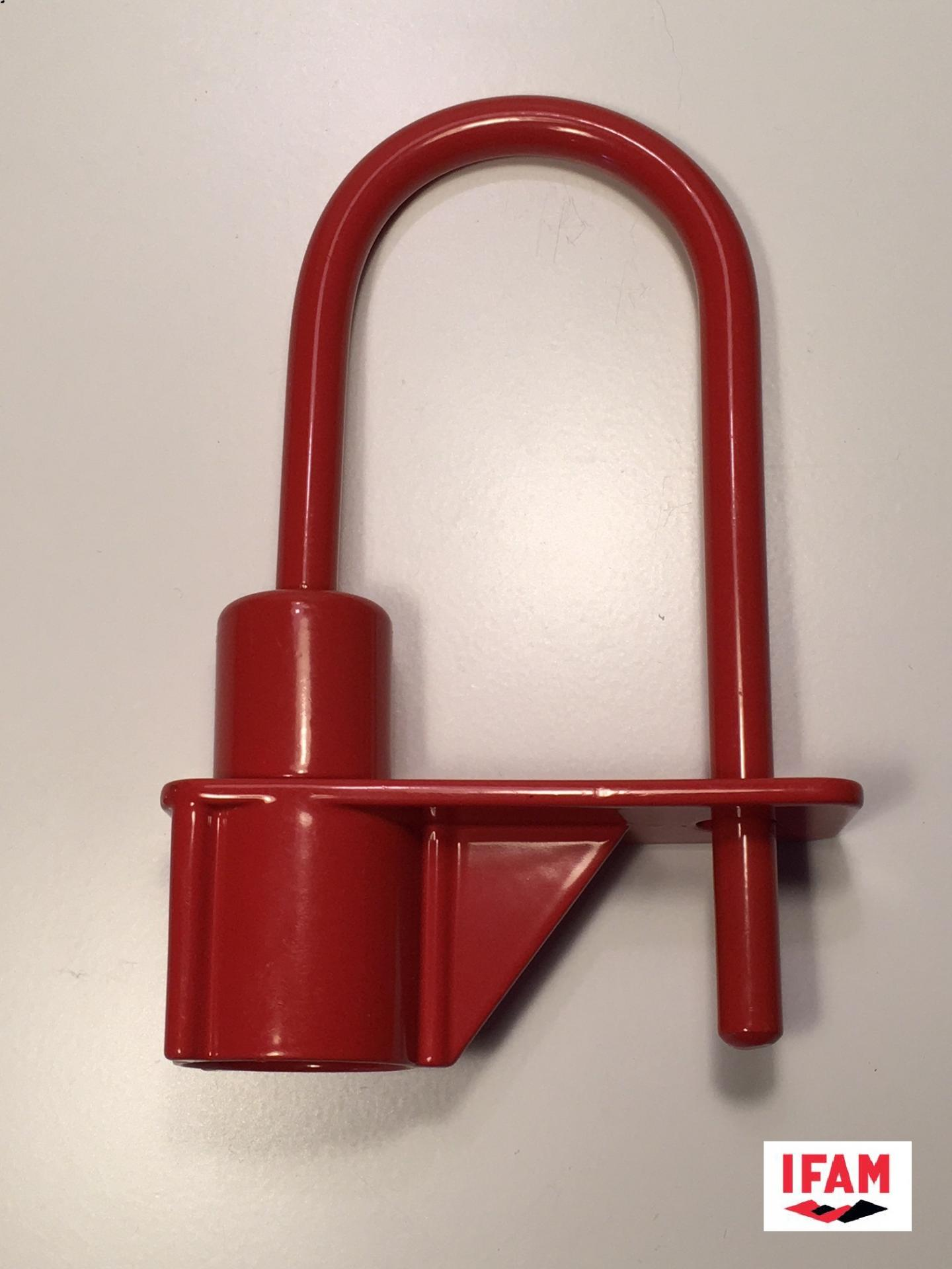 Cadenas pompier triangle de 14 mm ifam rouge