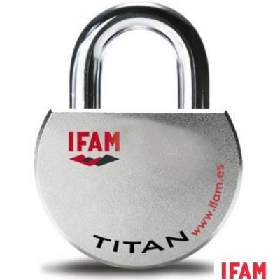 Cadenas blindé Haute Securité IFAM TITAN Degré 6 suivant Norme EN12320