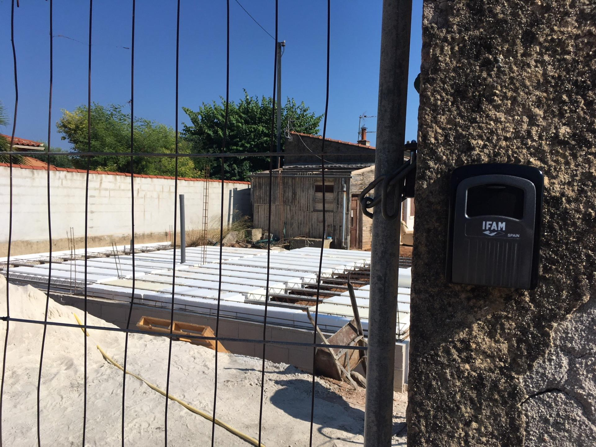 Coffre a cles mural pour chantiers de construction de villa et pavillon