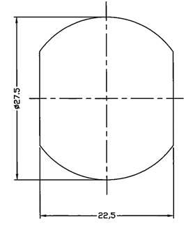 Dimension de persage de contacteur a cle haute securite ifam m27 46