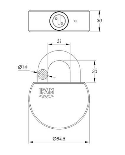 Dimension du cadenas ifam titan a tres haute securite grade 6 anti effraction special container