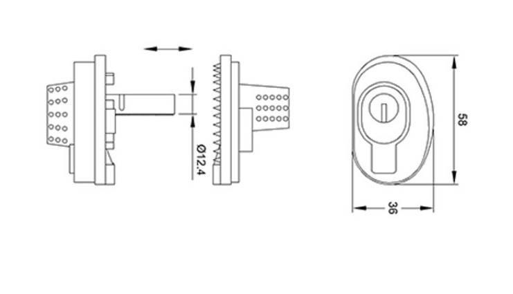 Dimension du verrou de pontet gunlock ifam pour fusil de chasse carabine pistolet arme a feu ou a gaz