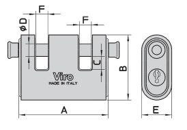 Dimensions cadenas panzer viro 4126