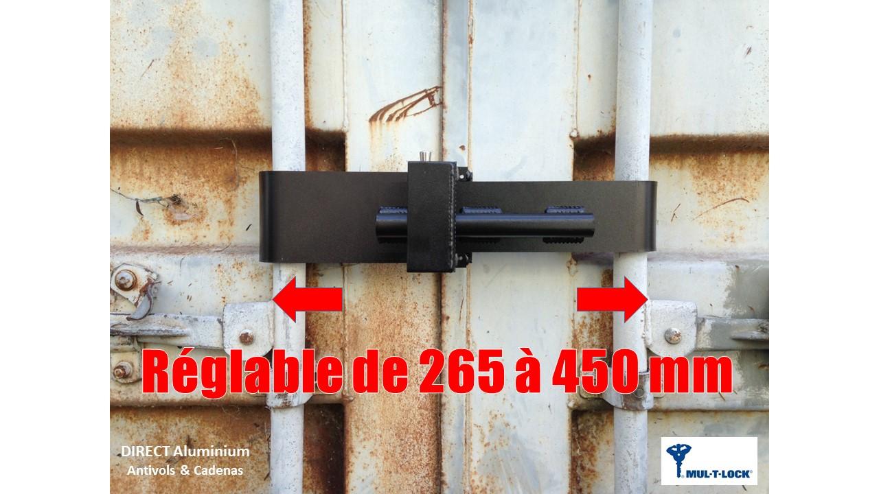 Dimensions container lock mul t lock