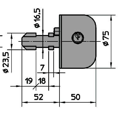 Dimensions demi bille pour sabot viro 4201