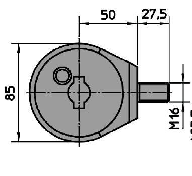 Dimensions du suppot de sabot viro demi bille 4201 pour rideau metalliques