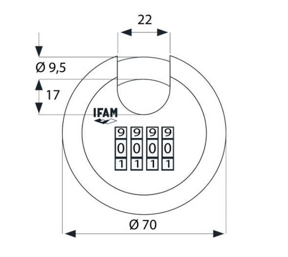 Dimensions et schema cadenas a combinaison circular combi ifam 1