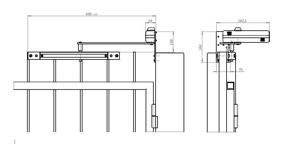Dimensions et schema du ferme portillon et portail mab 650c jpg