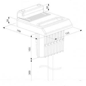 Dimensions et schema du sabot butee de sol excentre ogs locinox pour portail battant alu acier bois