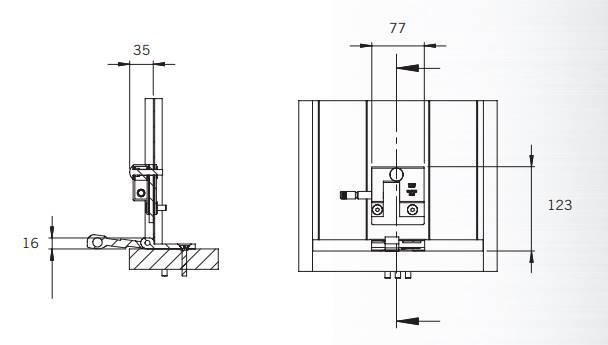 Dimensions et schema serrure antivol ft 4930 et 4931 smart pour porte de garage basculante sectionnelle rideau metallique porte acier ft eff ti taroni