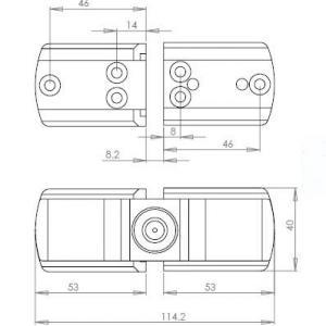 Dimensions serrure antivol imc 1507 pour camping car et caravane 1