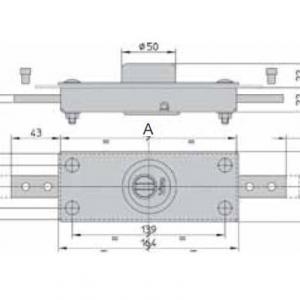 Dimensions serrure pour rideaux metalliques viro 8271