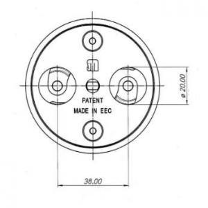 Dimensions ufo meroni antivol pour utilitaires