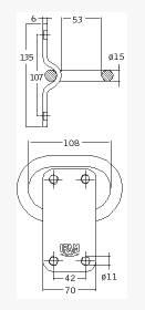 Dimensions Anneau d'ancrage Blindé IFAM pour chaine de moto/scooter