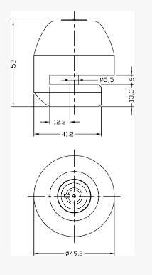 Dimensions Bloque disque IFAM Custom Steel 50
