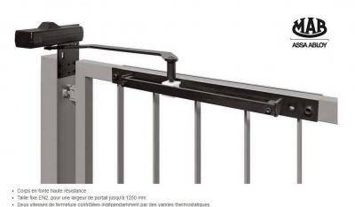 Ferme portail / portillon MAB 650C avec bras glissière