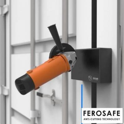 Boite de verrouillage FEROSAFE pour conteneur, avec protection ANTI-MEULEUSE