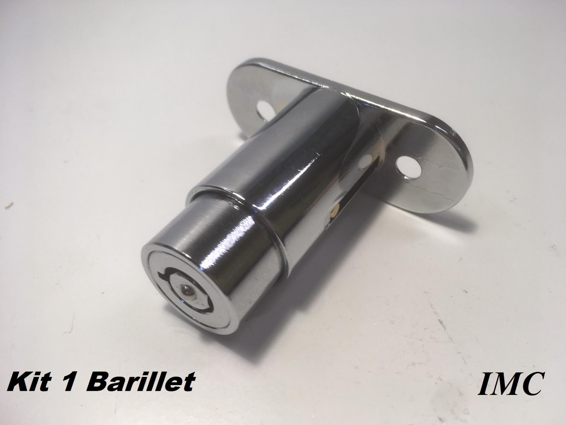 Kit de 1 cylindre barillet 1529 de rechange pour verrou imc copie
