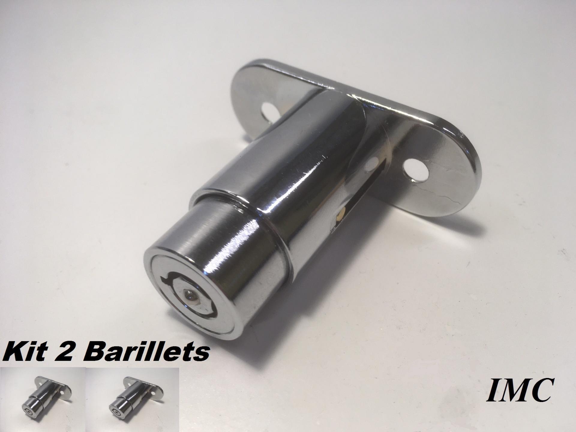 Kit de 2 cylindres barillets 1529 de rechange pour verrou imc