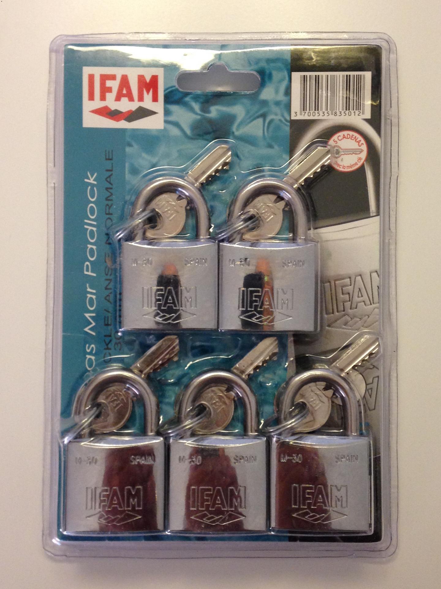 Lot de 5 cadenas inox m 30 ifam 1