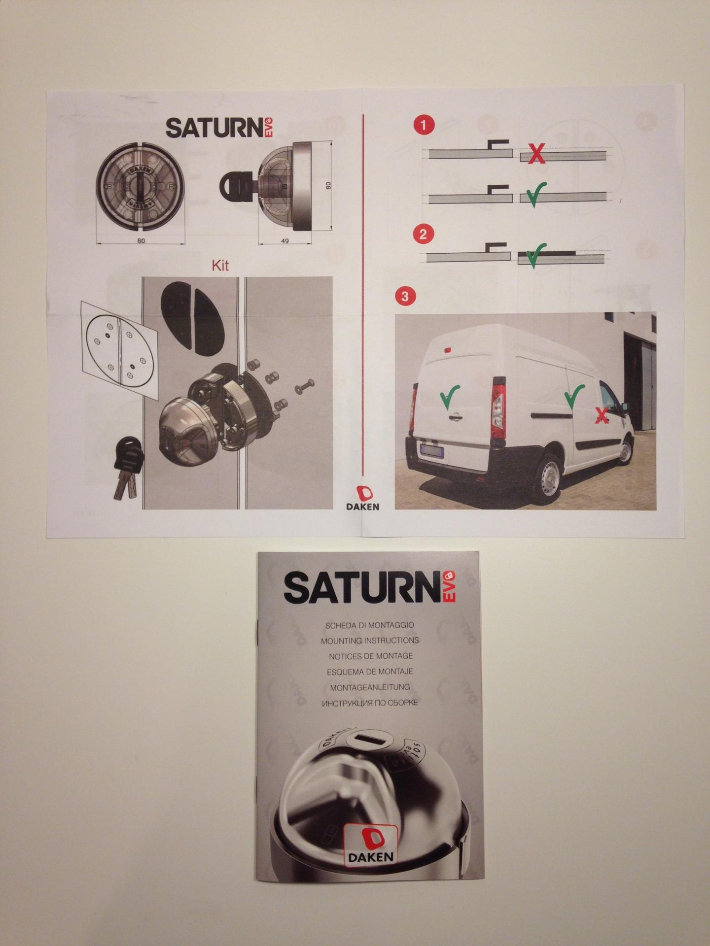 Notice saturn evo antivol pour vehicules utilitaires 1