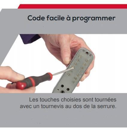 Programation code serrure a code mca200 ifam