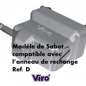 Sabot viro 1 4218 compatible avec l anneau de rechange d