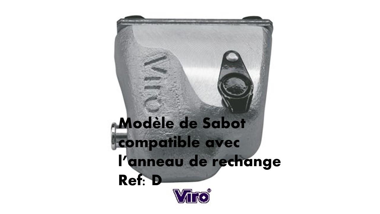 Sabot viro compatible avec l anneau de rechange d