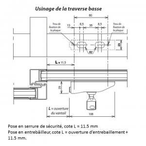 Schema de pose verrou entrebailleur x32