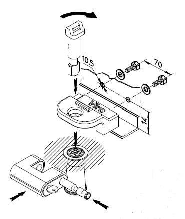 Serrure antivo pour portes de garage basculantes debordantes viro 696