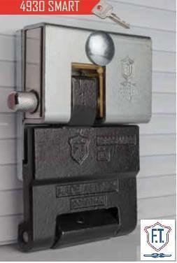 Serrure antivol ft 4930 smart pour porte de garage basculante ou sectionnelle et rideau metallique ft eff ti taroni