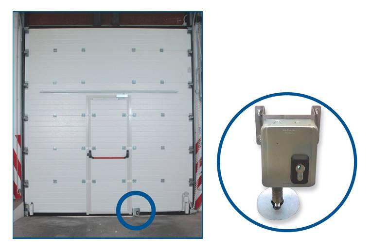 Serrure electrique viro 7905 v06 avec harpon rotatif pour porte de garage sectionnelle motorisee