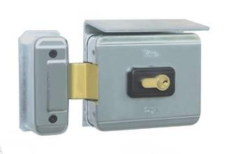 Serrure electrique VIRO V7928 V90 ouverture EXTERIEURE 12 volts CA, pour cylindre, avec gache