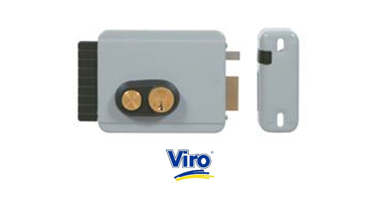Serrure electrique viro v8972 v97 droite avec bouton