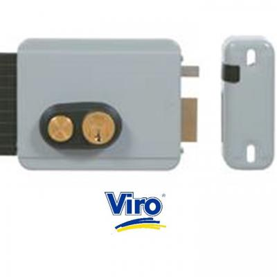 Serrure electrique VIRO V8972 V97 DROITE avec bouton 12 volts CA, réglable de 50 a 80 mm
