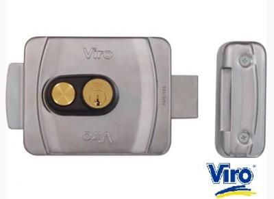 Serrure electrique VIRO V9083 à BOUTON  - Pêne dormant rotatif - double fonction. Ref: 9083.0794.P