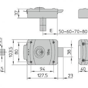 Serrure electrique viro v9083 dimensions