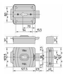 Serrure electrique viro v9087 dimensions