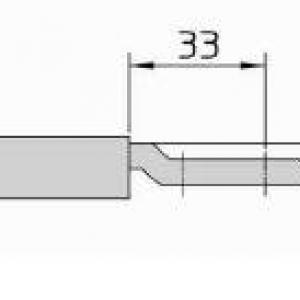 Dimensions Serrure viro pour rideaux metalliques et portes de garage ref 8231 9